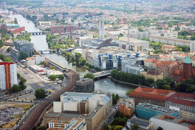 テレビ塔から見たベルリンの風景