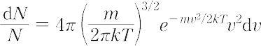 マクスウェル-ボルツマン分布(読み)マクスウェルボルツマンブンプ