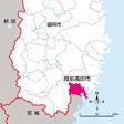 岩手県陸前高田市の位置