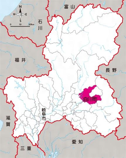 岐阜県白川町位置